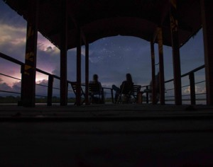 Night Watching on the Calanoa Dock - Photo by Annalise Botto