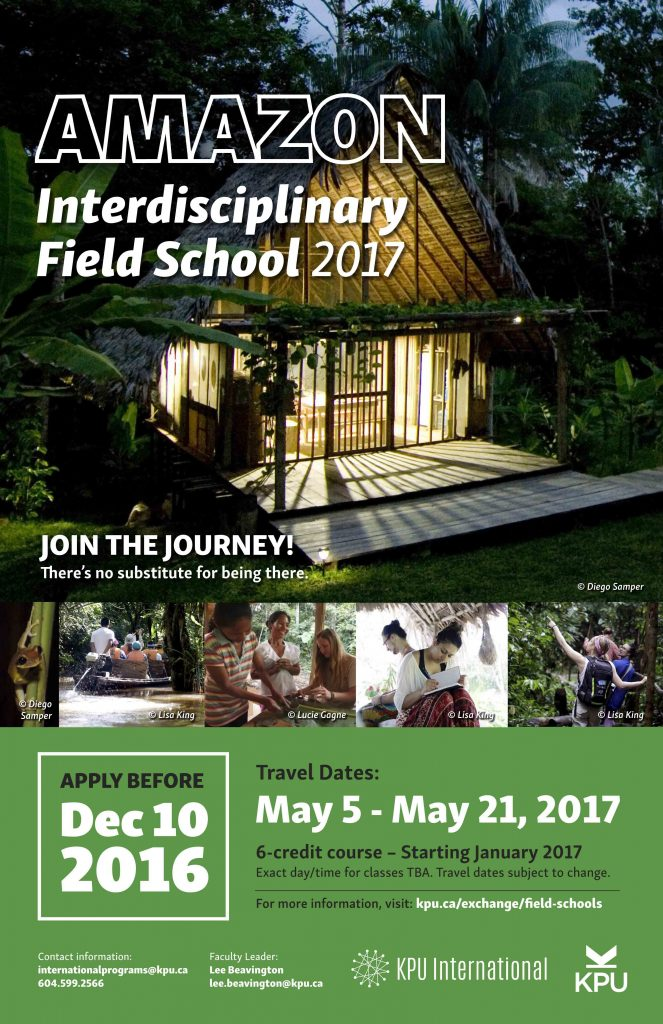 2017 Amazon Field School poster