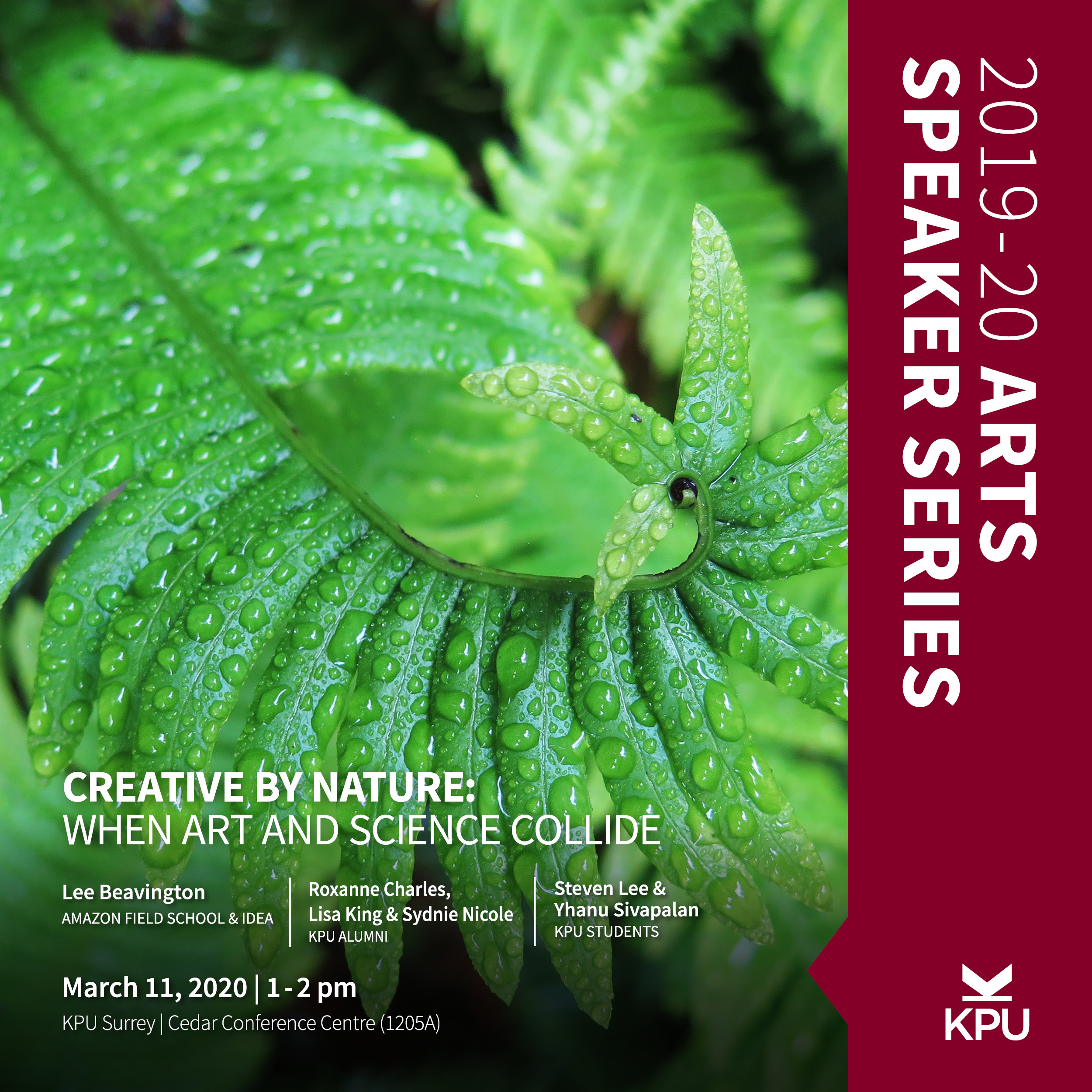 KPU Arts Speaker Series